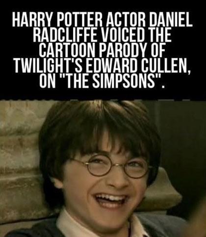did you know Daniel Radcliffe twilight - 7349161984