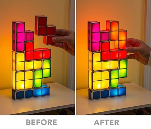 IRL lamps video games tetris