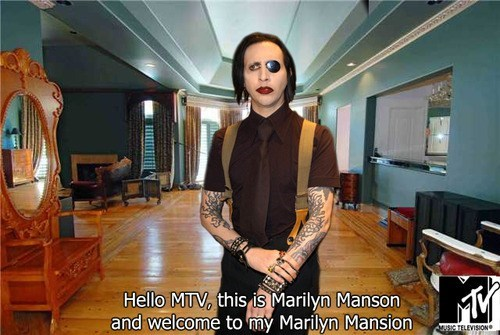 mansion,marilyn manson,pun
