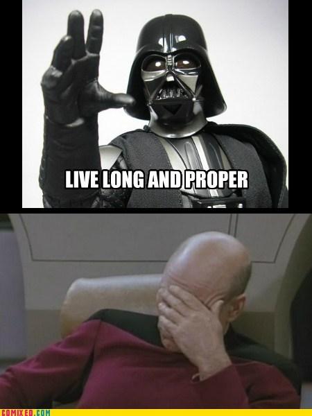 picard star wars facepalm Star Trek darth vader - 7349352448