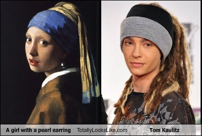 tom kaulitz,girls,paintings,totalyl looks like
