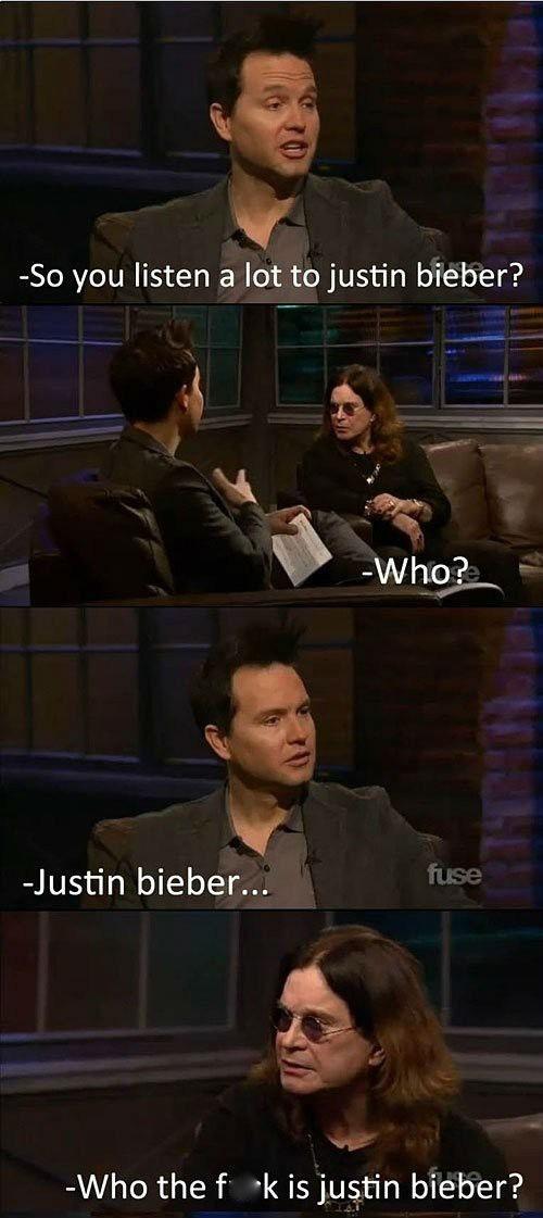 interviews,Ozzy Osbourne,justin bieber