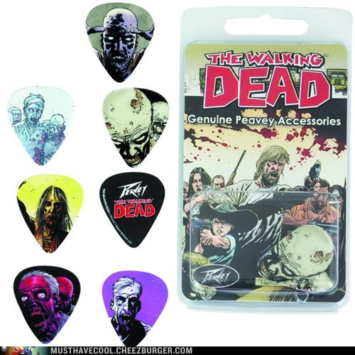 guitar,Music,picks,nerdgasm,zombie,The Walking Dead