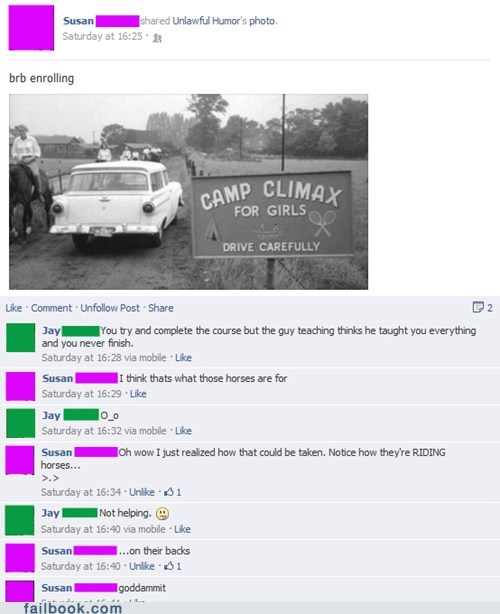 camp names,bareback,climax,camp climax,failbook