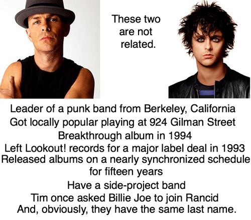 green day,rancid,comparisons