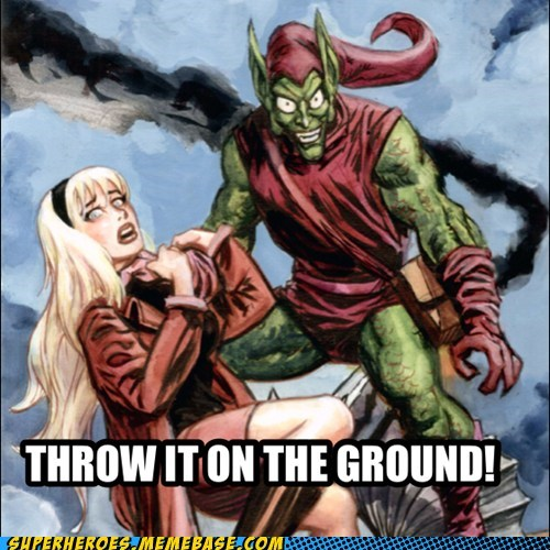 throw it on the ground gwen stacy green goblin - 7349870848