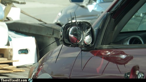 zip ties mirrors car repairs
