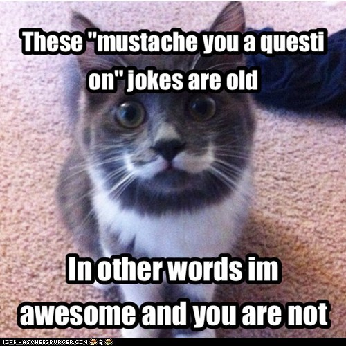 "These ""mustache you a question"" jokes are old"