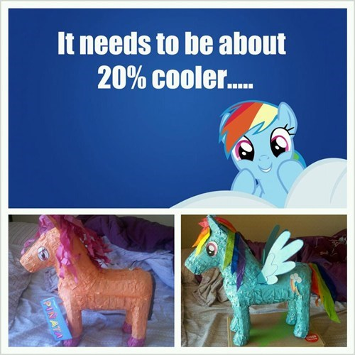 IRL twenty percent cooler pinatas rainbow dash - 7350273536