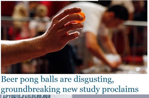 news,beer pong,disgusting