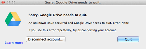google drive macs there I fixed it - 7350291456