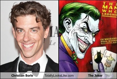 the joker,totally looks like,christian borle