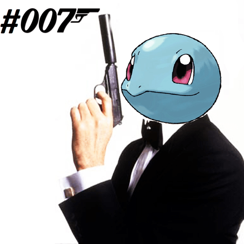 james bond squirtle 007 - 7352630272