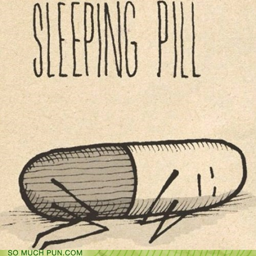 art sleeping pill cute
