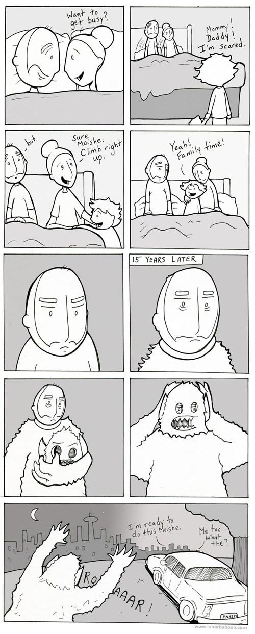 revenge bad dream family time webcomics - 7352943616