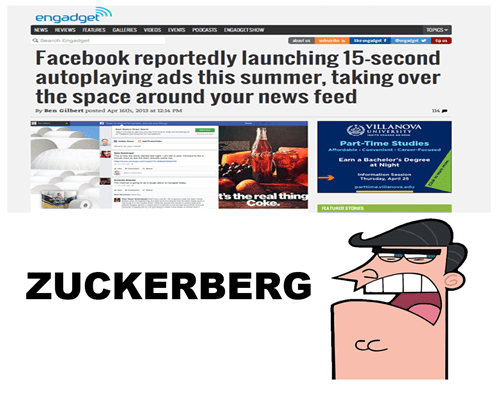 autoplay ads zuckerberg dinkelberg Mark Zuckerberg
