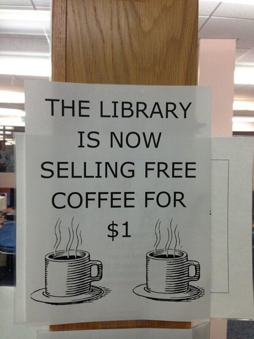 library,coffee,free