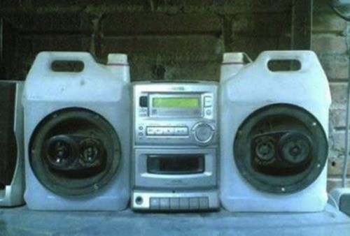 speakers,boom boxes,jugs