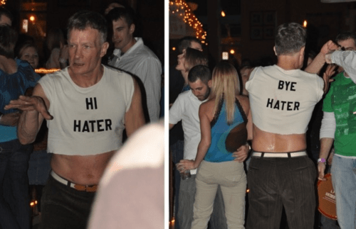 t shirts,cut-offs,haters