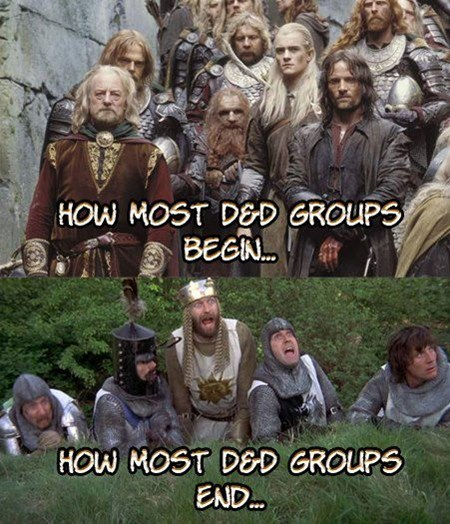 Lord of the Rings monty python d&d dungeons rabbits d&d d&d