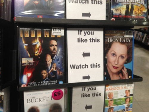 dvds movies iron lady iron man