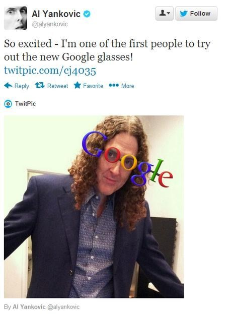 weird al twitter glasses google Music FAILS g rated