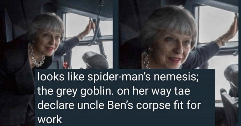 scottish tweet about spider man's nemesis the grey goblin