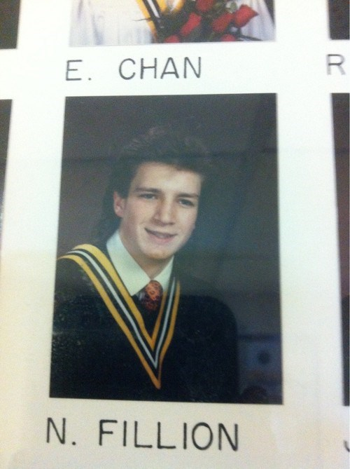 nathan fillion,yearbook,celeb