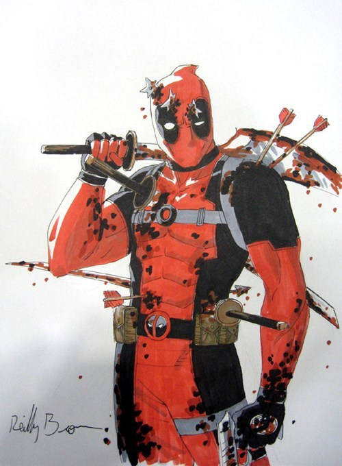 art,deadpool,injurged