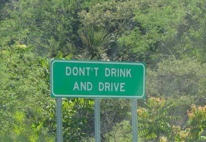 signs drinking and driving typos