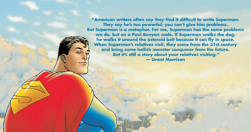 writers,grant morrison,superman