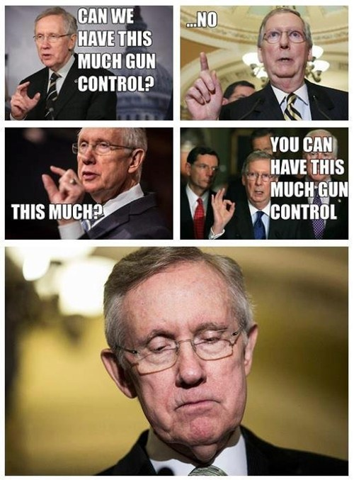 Touche of the Day: Senate Minority Leader Reacts to Gun Control Stalemate