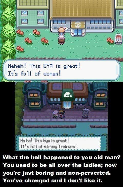 Pokémon old man gameplay gyms