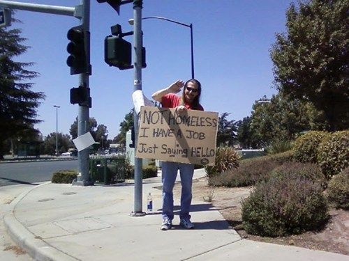signs,homeless,waving