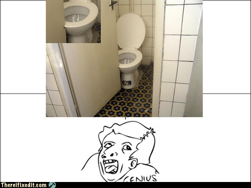 bathroom door meme genius funny - 7354976256