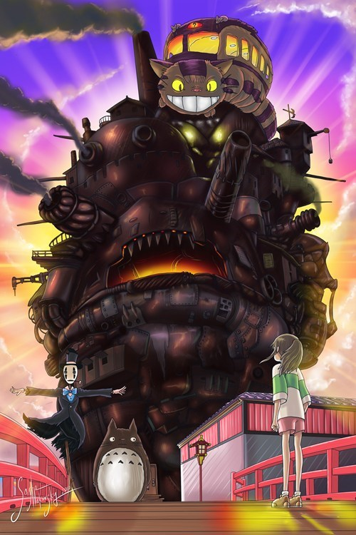 crossover Fan Art studio ghibli - 7355040000