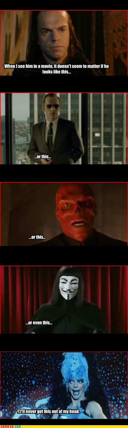 Lord of the Rings actors Red Skull Hugo Weaving - 7355089920