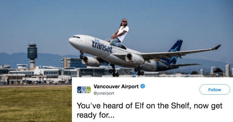 christmas twitter airport social media ridiculous elves holidays - 7355141