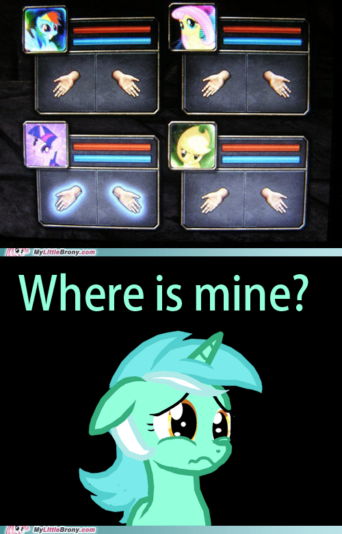 Sad ponies lyra hands