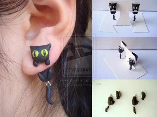 fashion,Jewelry,earrings,Cats