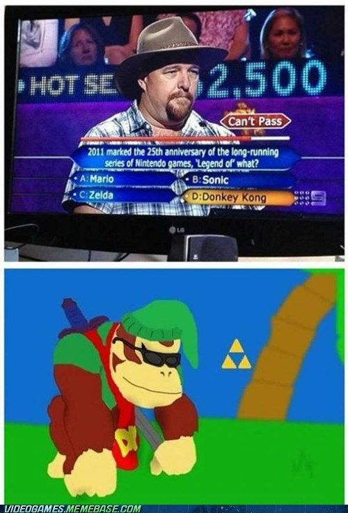 game shows,donkey kong,who wants to be a millionaire,zelda
