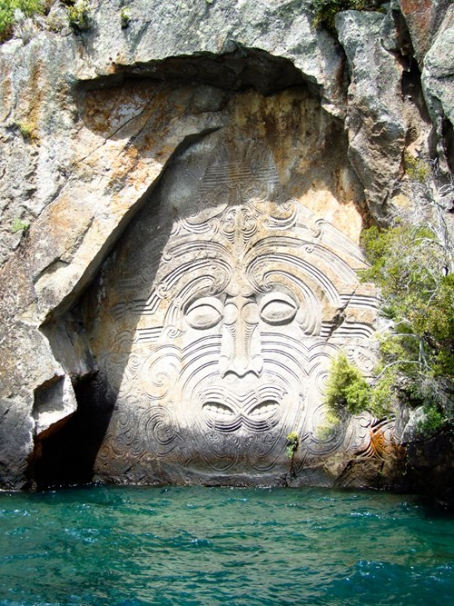 new zealand,carving,landscape