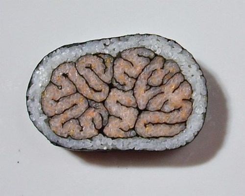 brains,sushi,design,food