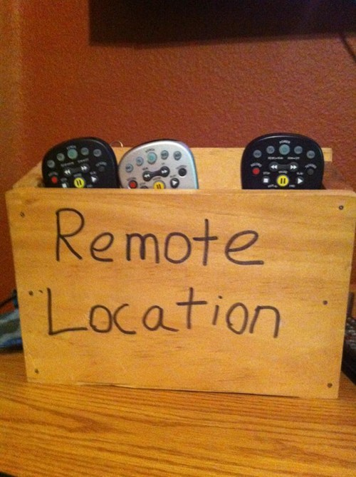 remote puns handy