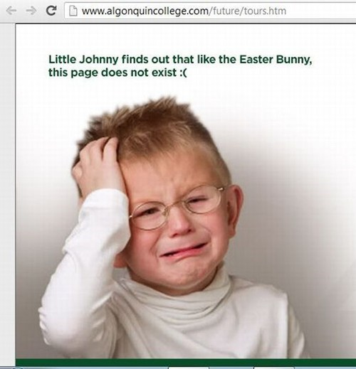 web design 404 Easter Bunny
