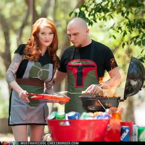 barbecue apron star wars nerdgasm