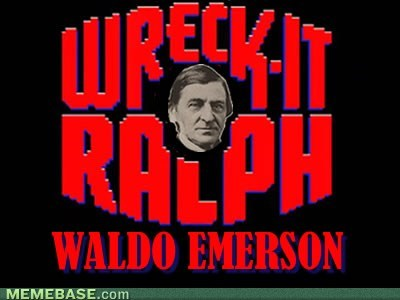 ralph waldo emerson literature english wreck it ralph