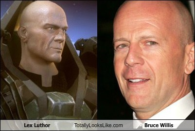 bald bruce willis lex luthor totally looks like