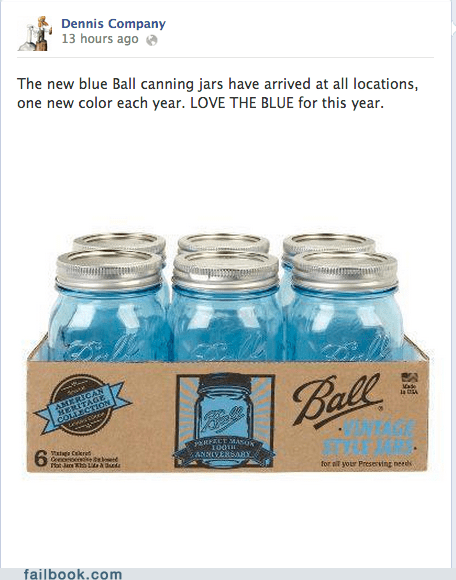 Blue Ball Canning Jars....