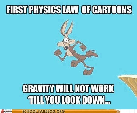 physics,cartoons,science,wile e coyote
